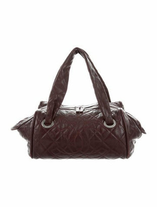 Chanel Caviar Timeless Bowler Bag silver