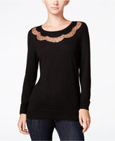 Maison Jules Illusion Sweater, Only at Macy's