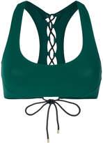 Stella McCartney lace-up back detail bikini top