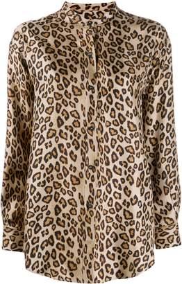Alberto Biani silk leopard print shirt