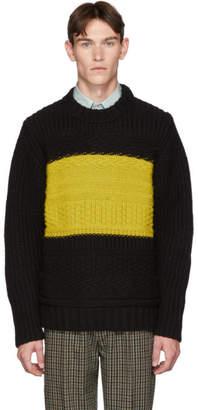 Paul Smith Black Alpaca Oversized Chunky Sweater