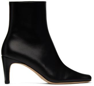 STAUD Black Leather Eva Boots