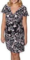Yumi Curves Oriental Botanical Print Jersey Dress, Black