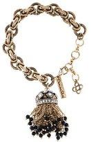 Oscar de la Renta Crystal Tassel Bracelet