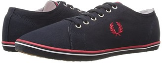 Fred Perry Kingston Twill (Navy/White/Bright Red) Men's Lace up casual Shoes