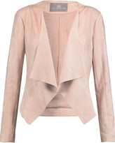 Tart Collections Sybil draped faux stretch-suede jacket