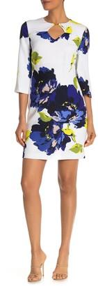 Trina Trina Turk Ardor 3/4 Sleeve Floral Print Dress (Regular & Plus Size)