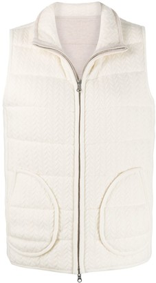 N.Peal Cable Reversible Padded Gilet