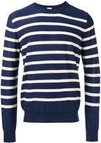 Malo stripe buttoned side jumper - men - Cotton - 48