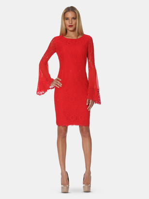Shani Red Boho Lace Dress