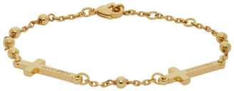 DSQUARED2 Gold Ball and Chain Cross Bracelet