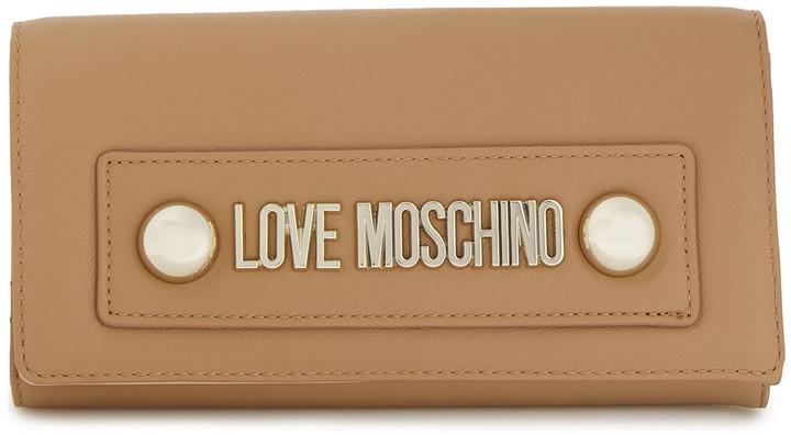 Love Moschino Logo-embellished Faux Leather Wallet