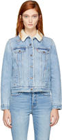 Levi's Levis Blue Denim Original Sherpa Trucker Jacket
