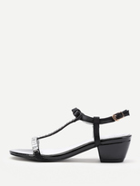 Shein Bow Tie Detail T Strap Sandals