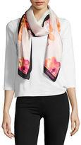 Calvin Klein Floral Silk Scarf