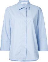 Jil Sander cropped sleeves shirt - women - Cotton - 38