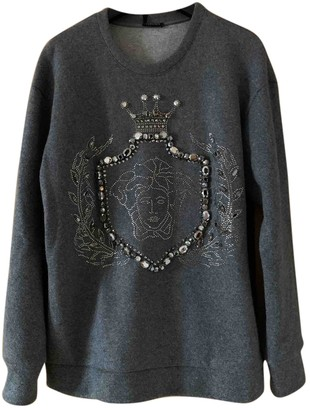 Versace Grey Wool Knitwear for Women