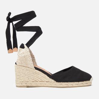 Castaner Women's Carina Espadrille Wedged Sandals - Negro