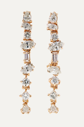 Kimberly Mcdonald McDonald - 18-karat Rose Gold Diamond Earrings - one size