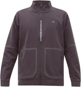Calvin Klein Performance - Logo Print Stretch Twill Track Jacket - Mens - Grey