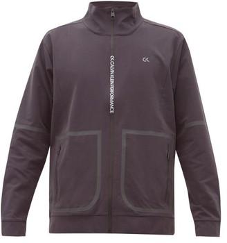 Calvin Klein Logo-print Stretch-twill Track Jacket - Mens - Grey