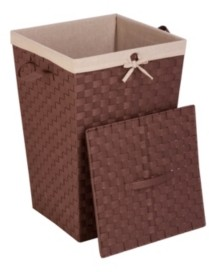 Honey-Can-Do Decorative Woven Hamper with Lid