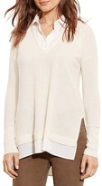 Lauren Ralph Lauren Mixed Media Cashmere Sweater - 100% Bloomingdale's Exclusive