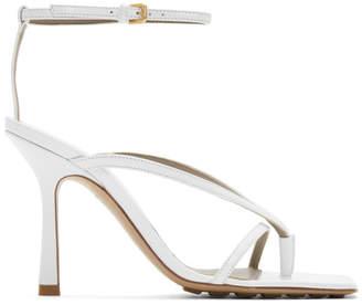 Bottega Veneta White Stretch Sandals