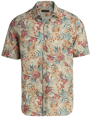 Saks Fifth Avenue COLLECTION Botanical Weave Shirt