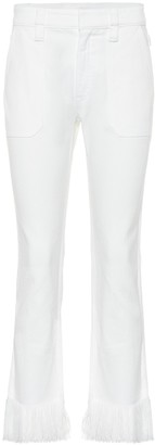 Chloé High-waisted cropped jeans