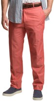 Dukes Bark Cotton Chambray Pants - Flat Front (For Men)