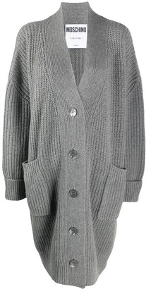 Moschino Ribbed Mid-Length Cardigan