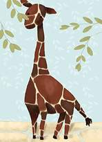 Oopsy Daisy Fine Art For Kids Gillespie The Giraffe Blue by Meghann O'Hara Canvas Wall Art, 10 by 14-Inch
