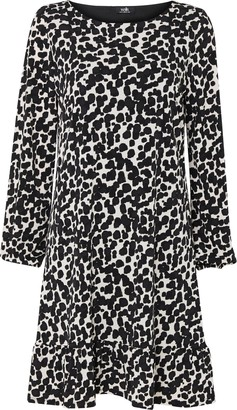 Wallis Black Spot Print Peplum Shift Dress