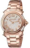 Roberto Cavalli Womens Rose Gold Watch With Two-tone Silver/full Stones Dial.