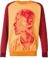 Issey Miyake portrait print sweatshirt