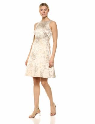 Calvin Klein Women's Sleeveless A-Line Party Dress with Embellishment