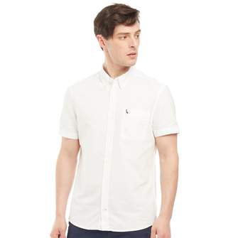 Jack Wills Mens Stableton Oxford Long Sleeve Shirt White
