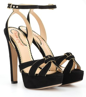 Charlotte Olympia It Girl plateau suede sandals