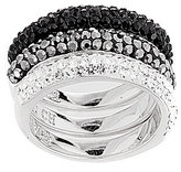 Cezanne Crystal Pave 3-Piece Stacked Ring Set