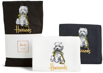 Harrods Westie Apron and Tea Towel Set