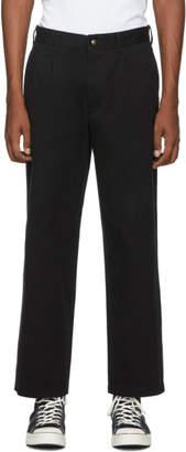 Noah NYC Black Single-Pleat Chino Trousers
