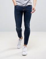 Love Moschino Cropped Stretch Super Skinny Jeans with Moschino Back Waist Tab