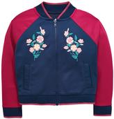 Very Girls Embroidered Satin Bomber Jacket