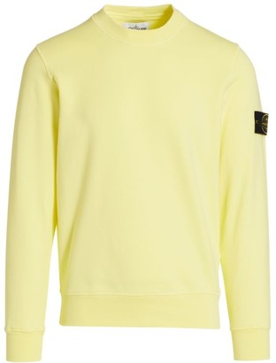 Stone Island Crewneck Cotton Fleece Sweatshirt