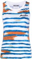 Moschino Logo Signature brushstroke sleeveless top