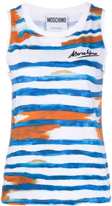Moschino Logo Signature brushstroke sleeveless top