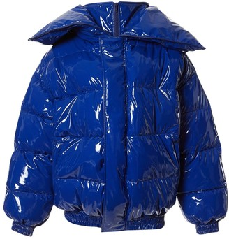 Vetements Blue Polyester Coats