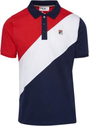 Fila Reus Polo Shirt - Peacoat / Chinese Red / White