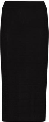 Fendi Monogram Knitted Pencil Skirt
